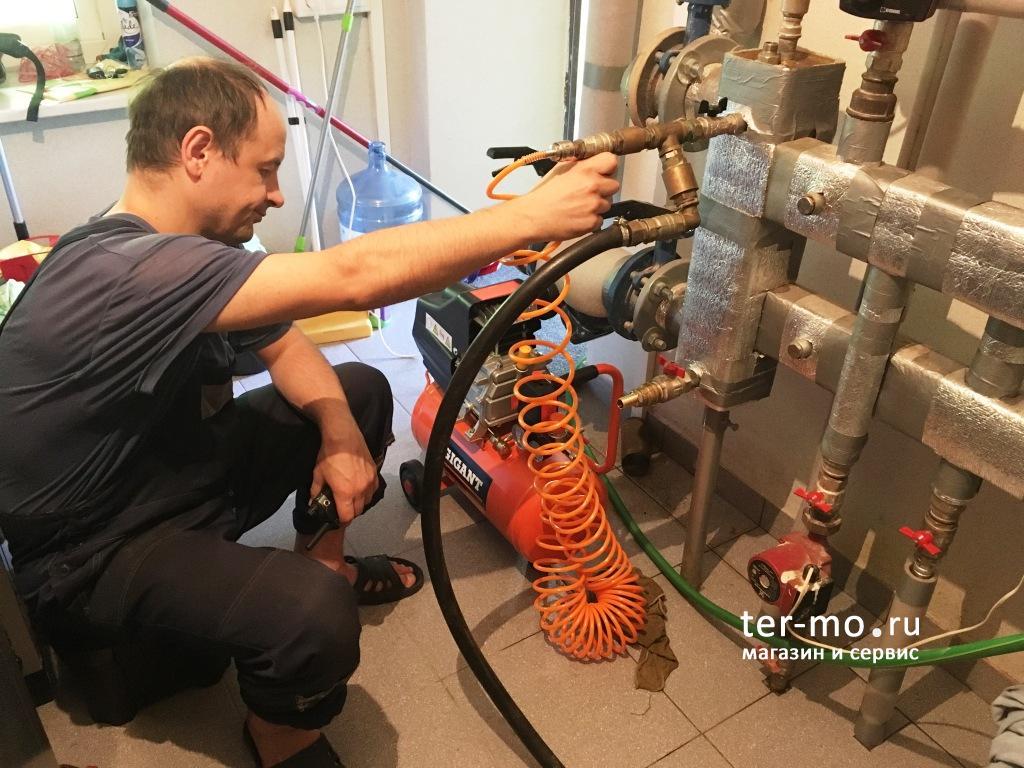 Промывка системы отопления основного и гостевого дома. Промывка котла Viessmann