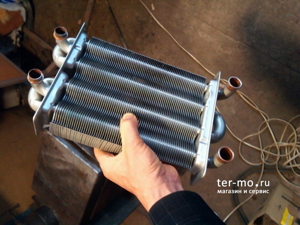 Промывка теплообменника котла